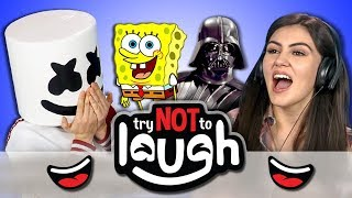 Try to Watch This Without Laughing or Grinning #74 (Ft. Marshmello) (REACT)