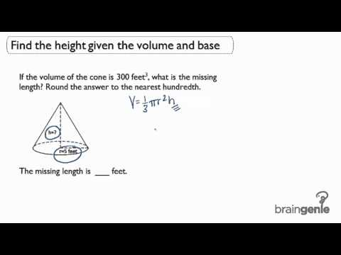 3.1.2 Find the height given the volume and base