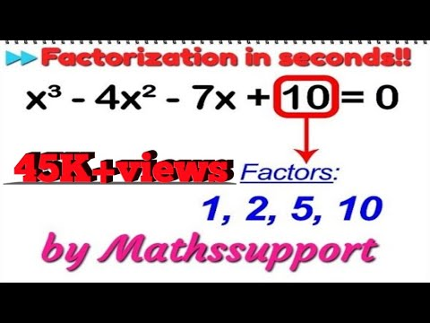 Factorization of Cubic polynomials || shortcut method || by mathssupport