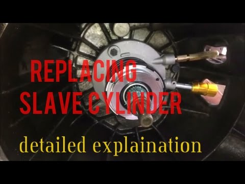 HOW TO INSTALL REPLACE SLAVE CYLINDER chevy s10 2.2l