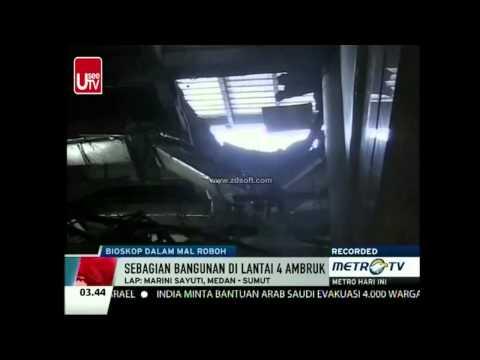 Gedung Bioskop Sun Plaza Roboh, Tiga Pengunjung Terluka