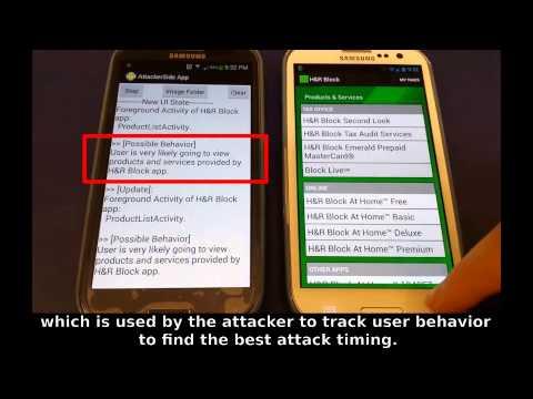 Activity Hijacking Attack on H&R Block App