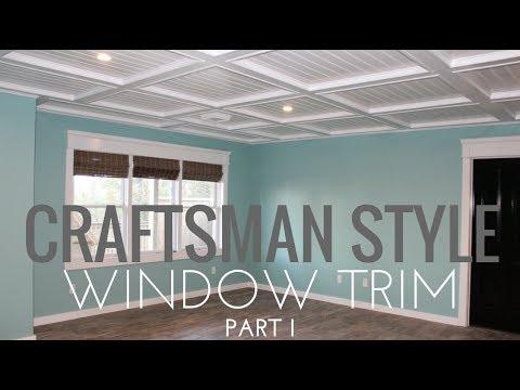 DIY Craftsman Window Trim in 4 mintues