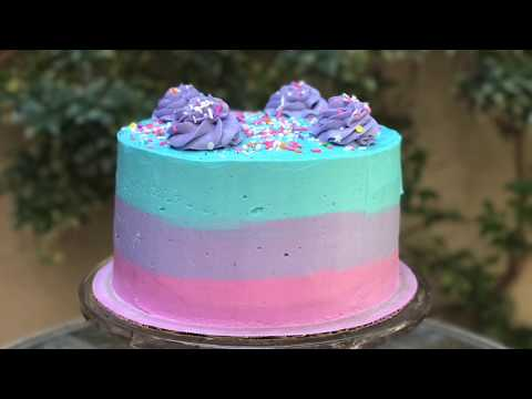 !!AWESOME!! TRI-COLORED OMBRE CAKE - EPISODE 41 BAKING WITH RYAN