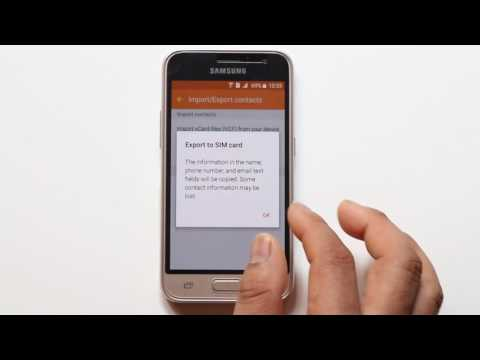 How to export and import contacts from one android phone to another