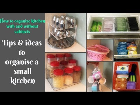 Some new ideas to organize a small Indian kitchen | organize kitchen with & without cabinets