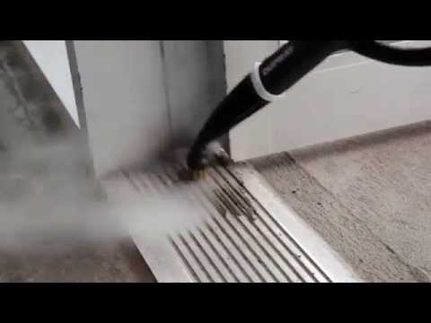 How to Clean Aluminium Door Tracks with a Steam Cleaner