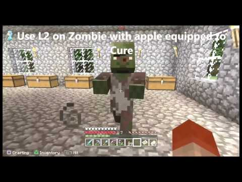 Minecraft How to cure a Zombie Villager-Zombie Doctor trophy/achievement guide