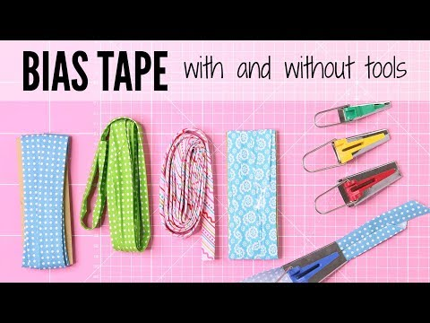 How to Make Bias Tape { with & without a bias maker}