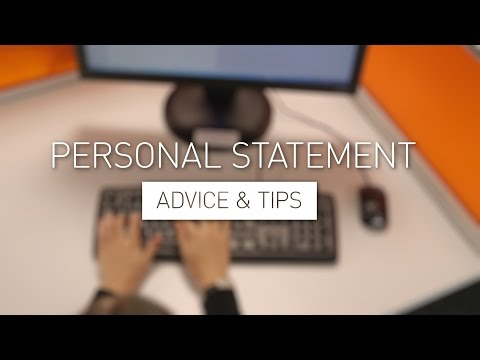 Personal Statement - Advice & Tips