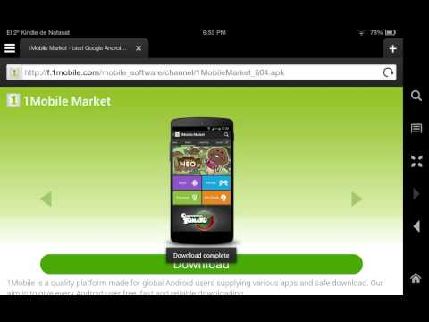 Install 1Mobile Market, Chrome and YouTube on Kindle Fire