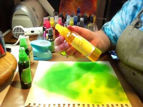 Homemade ink spray similar to Dylusions