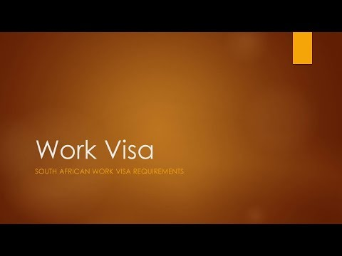 Work Visa Permit Application In South Africa