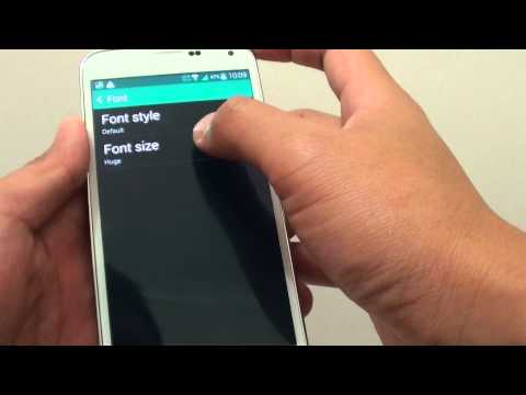 Samsung Galaxy S5: How to Change the System Font Size