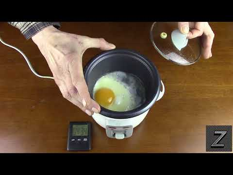 How to make sunny side up eggs in a rice cooker