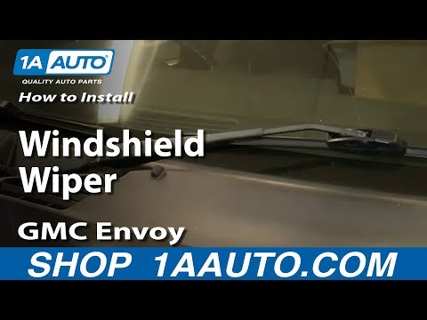 How To Install Replace Windshield Wiper Blade 2002-09 GMC Envoy