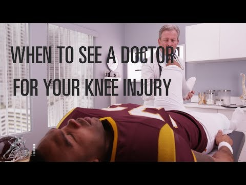 When should you go to a doctor after a knee injury?
