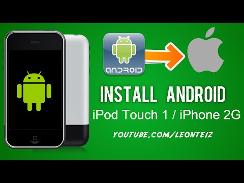 How to install Android and OpeniBOOT on iPod Touch 1st and IPhone 2G