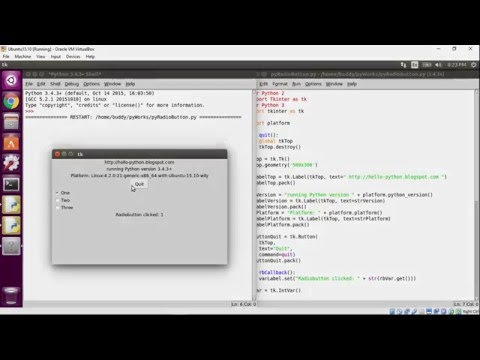 Python Tkinter: Radiobutton