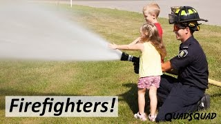 Real Life Firefighters!!  A Trip to the Fire Station for Kids.