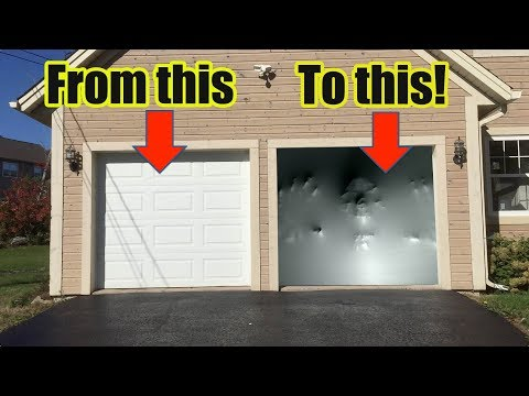 How To Make an Awesome Halloween Garage Door Illusion with Paranormal Passages by AtmosFearFX!