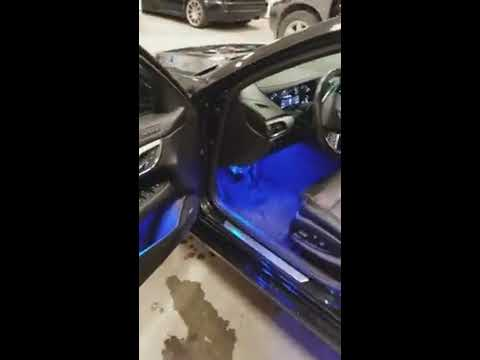 XK Chrome Multi Color LED Interior Lighting on a 2014 Cadillac ATS
