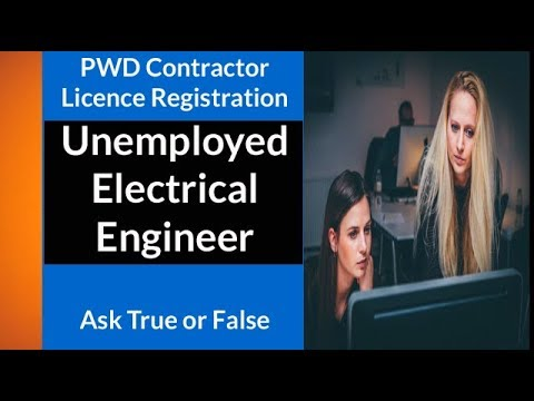 Unemployed Electrical Engineer PWD Contractor Licence Registration l Ask True or False l Suraj Laghe
