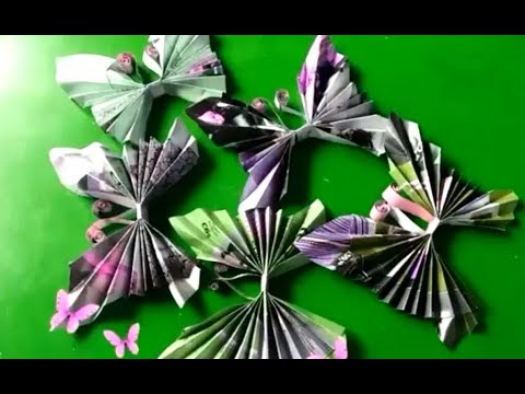 How to make butterfly with magazines | DIY | Room decor.