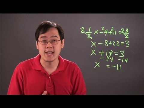 How to Balance Equations With Positive and Negative Integers & Fractions : Fractions 101