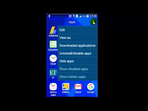 How to delete apps in android phone