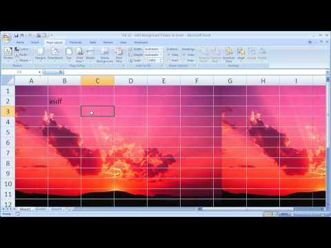 Excel Tips 12 - Add Background Pictures to Excel Spreadsheets