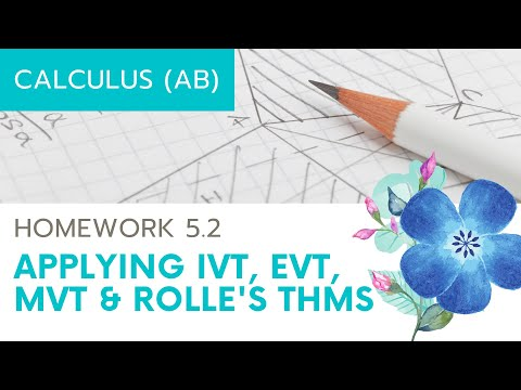 Calculus AB Homework 5.2: Existence Theorems