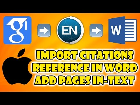 [MAC] How To: Import citation to EndNote and use in Word