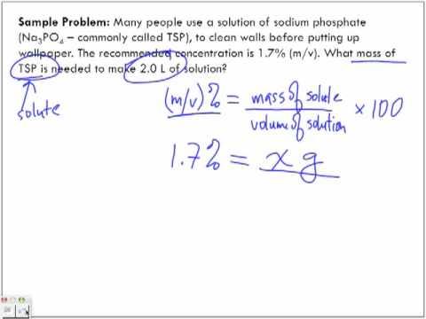 Concentration of Solutions: mass/volume % (m/v)% Sample Problem #2