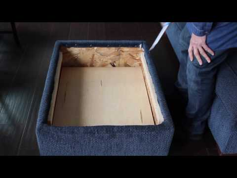 How to change a Regular Ottoman to a Storage Ottoman