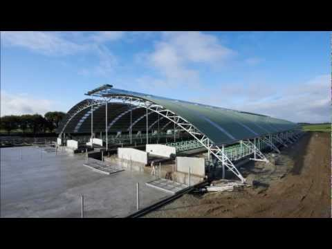 Edendale Curved Roof Barn Construction