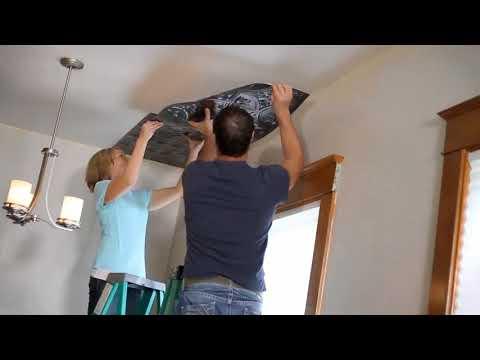 Fasade Ceiling Glue-up Installation