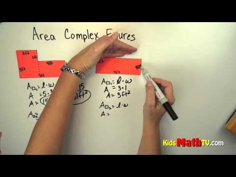 Learn how to find the area complex figures. Math lesson for kids in 3rd and 4th grades