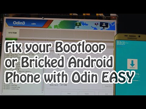 HOW TO FIX A BOOTLOOP OR BRICKED PHONE WITH ODIN ( Very Easy)