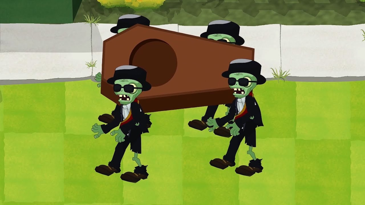 Plants vs zombies 2 Cartoon (Animation) : Lift Coffin Zombie Animation