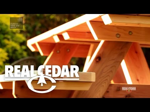 How to build : OUTDOOR TABLE & BENCH - RealCedar.com