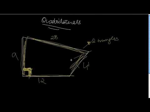 How To Find The Area Of Any Quadrilateral - Case 2 Part 1