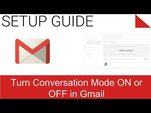 View new email and turn Conversation mode on or off - 2.1 - Gmail
