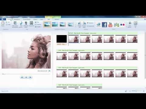 How to make a lyrics video using movie maker