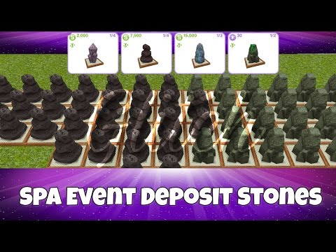 The Sims FreePlay - How to Glitch Deposit Stones From the Spa Event