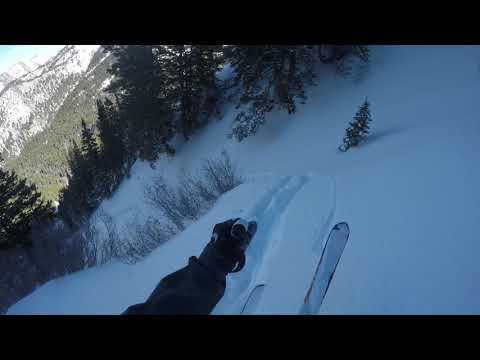Utah Backcountry Skiing Porter Fork In Between Millcreek Canyon Salt Lake City