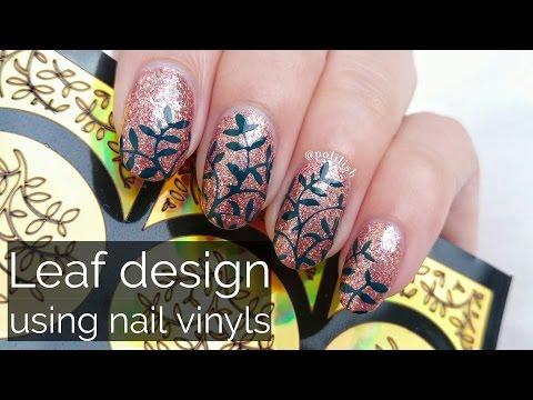 DIY nail decals using vinyls/stencils