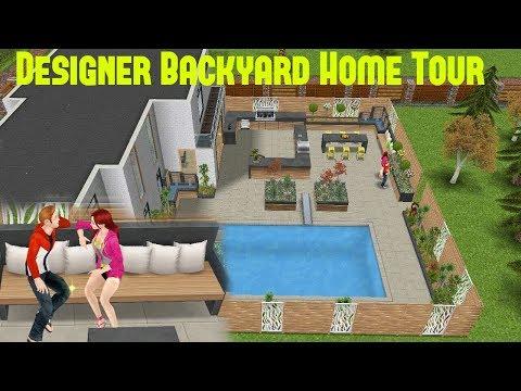 Simsfreeplay - Designer Backyard Home Tour Home Makeover Update