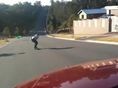 Downhill Skateboarding Crash Speed Wobbles