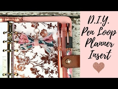 DIY Pen Loop Planner Insert for Ring Bound | Yes Please Planning